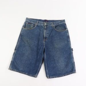 Vintage Tommy Hilfiger Spell Out Denim Jean Shorts